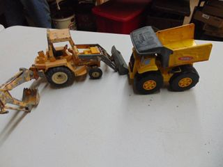 Plastic Tonka Truck and Metal loader