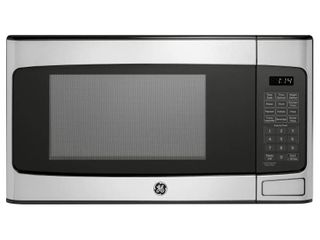 GE   1 1 Cu  Ft  Mid Size Microwave   Stainless steel retail price  109 00