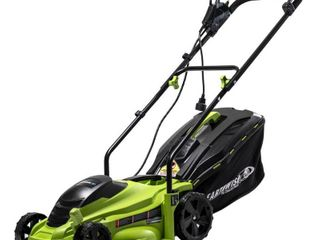 Earthwise 14 in  11 Amp Corded Electric Walk Behind Push lawn Mower retail price  124 99