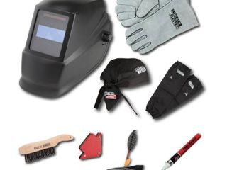 KIT  AUTO DARKENING WElDING HElMET  MISSING welding sleeves and multi purpose Magnet