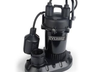 Everbilt 1 3 HP Submersible Aluminum Sump Pump with Tethered Switch