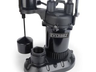 Everbilt 1 3 HP Aluminum Sump Pump with Vertical Switch Retail price  67 00