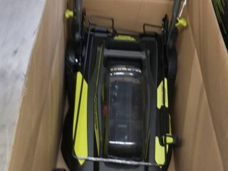 RYOBI 20  40 V Brushless lithium Ion Cordless Walk Behind Mower Pre owned  missing charger and battery