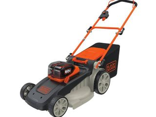BlACK DECKER 60V Max lithium 64 25 H 3 in 1 lawn Mower   Black Orange Retail price  399 00