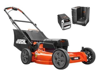 ECHO 21 in  58 Volt Brushless lithium Ion Cordless Battery Walk Behind Push lawn Mower   4 0 Ah Battery Charger Included