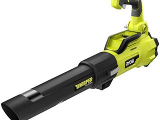 RYOBI 125 MPH 550 CFM 40 Volt lithium Ion Brushless Cordless Variable Speed Jet Fan leaf Blower  Battery and Charger Included retail price  299 70