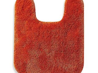 Wamsutta Contour Duet Bath Rug And Toilet Seat Cover Brick Red 2 Piece Set