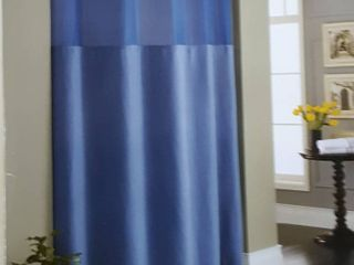 Hookless Waffle Stall Fabric Shower Curtain   Moonlight Blue   Size  54  X 80