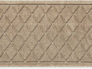 Weather Guarda 20 inch X 30 inch Argyle Door Mat In Camel