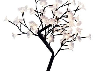 Simple Designs Nl2008 BlK lED lighted Decorative Cherry Tree  large  Black