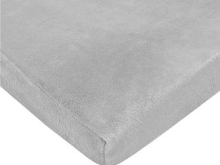 Tl Care 100  Polyester Chenille Playard Sheets  Grey