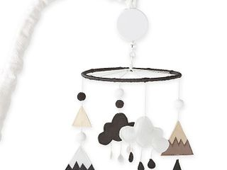Nest and Nod by levtex Baby Musical Mobile in Black White