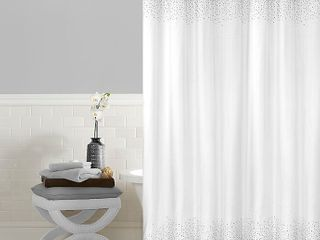 Twilight 72 Inch x 72 Inch Shower Curtain in White
