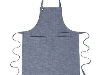 Artisanal Kitchen Supply Chambray Apron in Navy