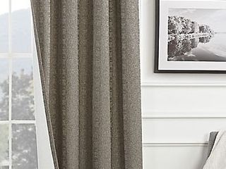 Brookstone Draftblocker Grommet 84 Inch Window Curtain Panel in linen