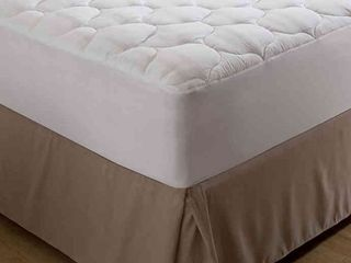 Bedding Essentials Microfiber Twin Mattress Pad in White