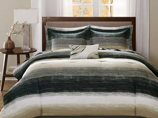 Seth Striped Complete Multiple Piece Comforter Set  California King  9 Piece