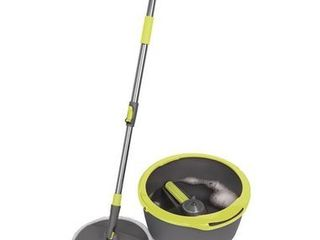 Casabella 8585337 Compact Bucket   Spin Mop With Microfiber Head