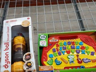 Kids Toy Bundle  Includes Dyson Ball Vacuum and letter Band Board