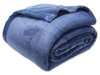 Berkshire Blanket luxury Primalusha Full queen Blanket In Cadet Blue