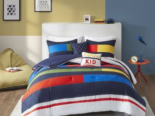 Twin Noah Striped Printed Comforter Set