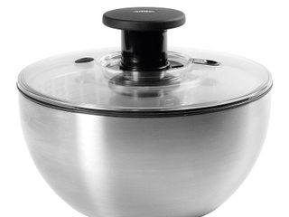 Oxo Stainless Steel Salad Spinner  Retails 49 99