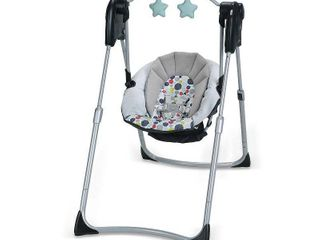 Graco Slim Spaces Compact Baby Swing  Retails 69 99