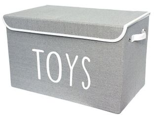 Taylor Madison Designs Storage Chest in Grey White