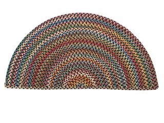 Blue Ridge Half Round Wool Braided Rug  Onyx Multi  Retails 99 95