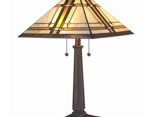Amora lighting AM1053Tl14 Dark Brown 2 light 22 1 2  Tall Buffet Table lamp  Retails 127 99