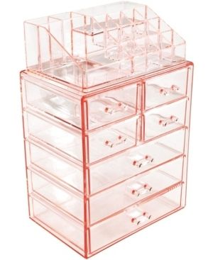 Sorbus Cosmetics Makeup Storage Case Medium Display  Retails 49 99