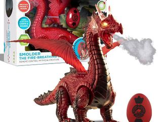 Discovery Kids Discovery RC Smolder the Fire Breathing Dragon  Red  Retails 29 99