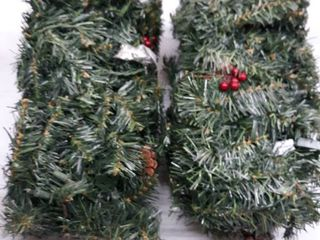 Winter Wonderland Pre  lit Pine Garland  set Of 2