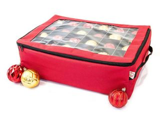 Santas Bags Ornament Keeper  with 2 Trays  Retails 34 99