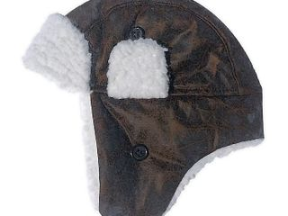 Toby Fairy Faux leather Trapper Hat in Choclate