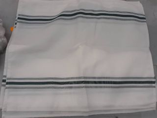 French Stripe Placemats in white  set of 6