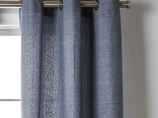 Wamsutta Collective Windsor 2 pack 84inch Contrast stitch Window curtain panels in Denim