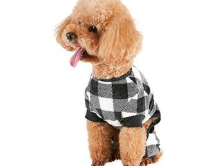 Buffalo Check Dog Pajamas in Black   White
