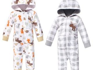 Hudson Baby Boy Fleece Jumpsuits and Coveralls 2 Pack  Size 9 12M