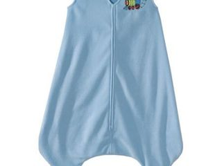 HAlO Early Walker SleepSack Wearable Blanket  Microfleece  Blue Train  Extra large