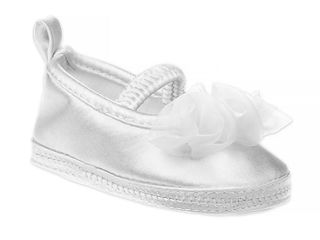 Ashley laura Size6 9 months Ballet Rosette Christening shoe in white