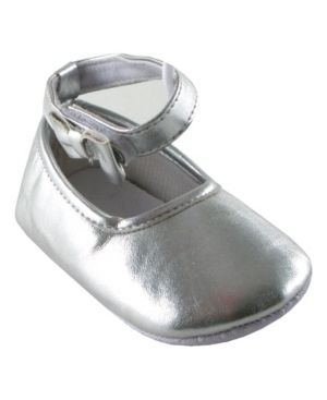 luvable friends Baby Girl Ankle Bow Shoes  Silver