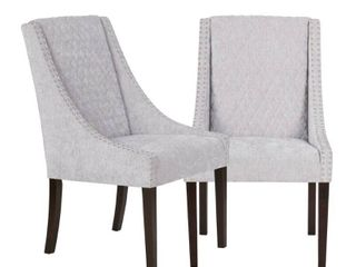 Set of 2 Haven Dining Chair Gray Silver  Retails 479 99