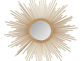 Madison Park Fiore Sunburst Small Mirror  Retails 34 99