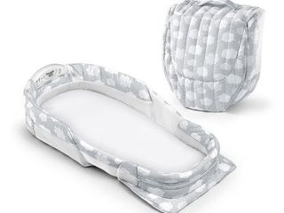 Baby Delight Snuggle Nest Surround Infant Sleeper   Silver Clouds Xl  lt Grey  Retails 46 99