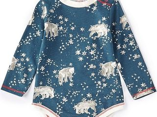 Baby Boy long sleeve polar bears   stars printed body suit