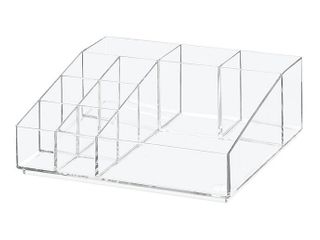Idesign Small Divided Cosmetic Organizer   Clear