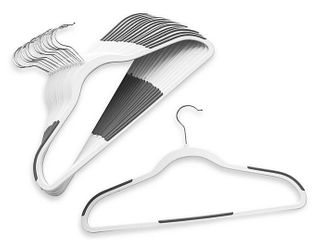 Studio 3B Slim Grips Clothing Hangers in White  Set of 16