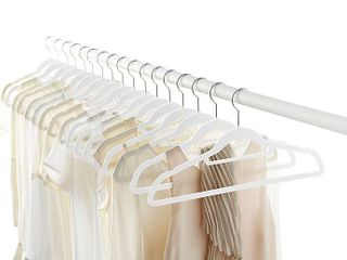 Org Well Organized set of 50 slimline Hangers color white