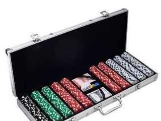 Poker Chip Set with cards and carrying case
